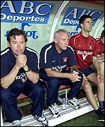 Peter Reid (centre) has expressed interest in the Irish job