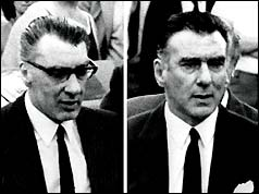 Composite picture of Ronnie (l) and Reggie Kray