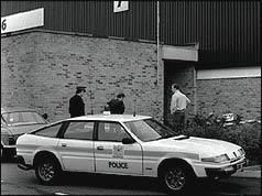 The Brinks Mat warehouse just after the robbery