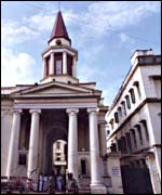 St Thomas Church, in Calcutta, where the body of Mother Teresa is laid to rest