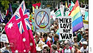 Anti-war demonstration in Sydney