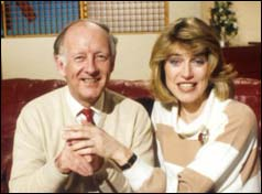 Frank Bough and Selina Scott