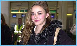 Charlotte leaves for the US at Gatwick Airport