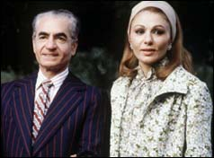 The Shah of Iran Reza Pahlavi and his wife, Empress Farah Diba