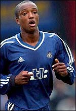 Newcastle striker Richard Offiong