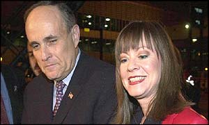 Former New York Mayor Rudy Giuliani with fianc�e Judith Nathan