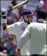 Mark Butcher swings his bat