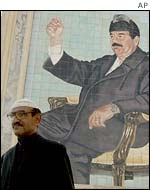 A Baghdad mural or Saddam Hussein