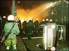 Police in Rostock, eastern Germany
