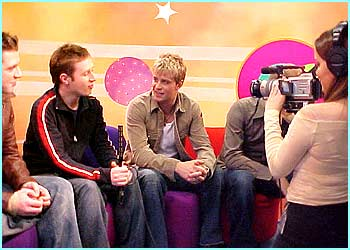 Mark, Kian and Bryan joined Adam for a chat in the Newsround Lite studio
