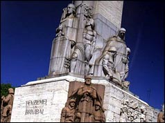 Riga Freedom Memorial, a powerful symbol of anti-soviet feeling. Picture courtesy of Stuart Whatling, 1998