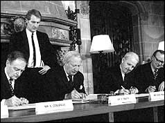Signing of Council of Ireland Agreement