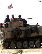 US armour on exercise in Kuwait