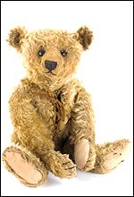 A rare Steiff hotwater bottle teddy bear with original canister
