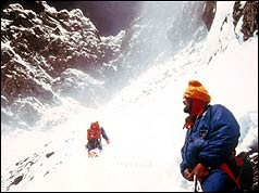 Chris Bonington and Doug Scott above Camp 5 at 27,000 feet (8,230 m)