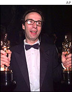 Roberto Benigni at the Oscars 1998