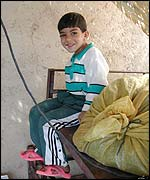 Young boy in Tehran