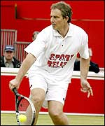 Tony Blair in action for Sport Relief