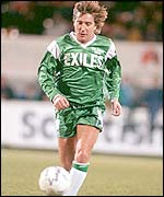 Rod Stewart infootball action