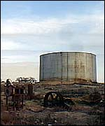 World War II oil tank   A Kirby