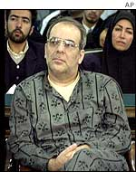 Iranian reformist Abbas Abdi at his trial on Tuesday