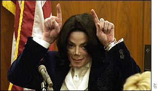 Michael Jackson in court in Santa Maria, California