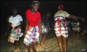 Traditional dancers danced the night away in Venda, South Africa