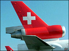 Swissair MD11 tailfin