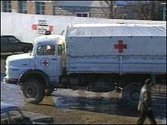 Red Cross lorry