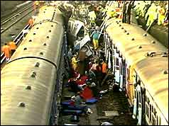 scene of rail crash