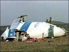 The Lockerbie crash site