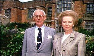Denis and Margaret Thatcher at Chequers