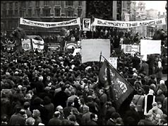 Miners' rally in Trafalgar Square - 6 February 1972 - Associated Press