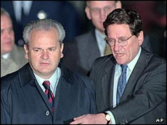 Slobodan Milosevic and Richard Holbrooke