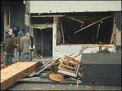 Pub just after the explosion