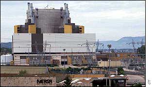 Superphenix nuclear breeder reactor in France