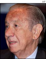 Juan Antonio Samaranch, former president of the IOC
