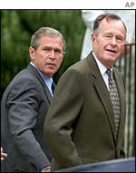President Bush and his father