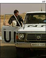 UN car in Iraq