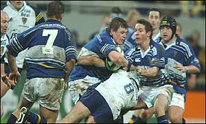 Brian O'Driscoll helped set up Leinster's crucial try