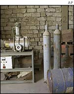 Stored machinery at the Tawaitha facility south of Baghdad