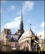 View of Notre Dame Cathedral in Paris
