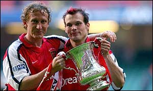 Ray Parlour and Freddie Ljungberg score the goals as Arsenal win the  FA Cup final