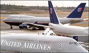 United Airlines aeroplanes