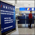 United sign in the airport