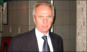England coach Sven Goran Eriksson arrives at Television Centre