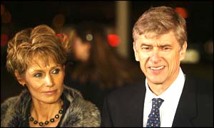Arsene Wenger arrives at the awards