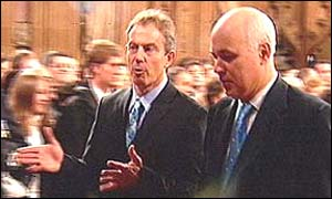Tony Blair (left) and Iain Duncan Smith