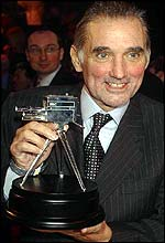 George Best with his Lifetime Achievement Award