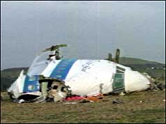 Pan Am flight wreckage